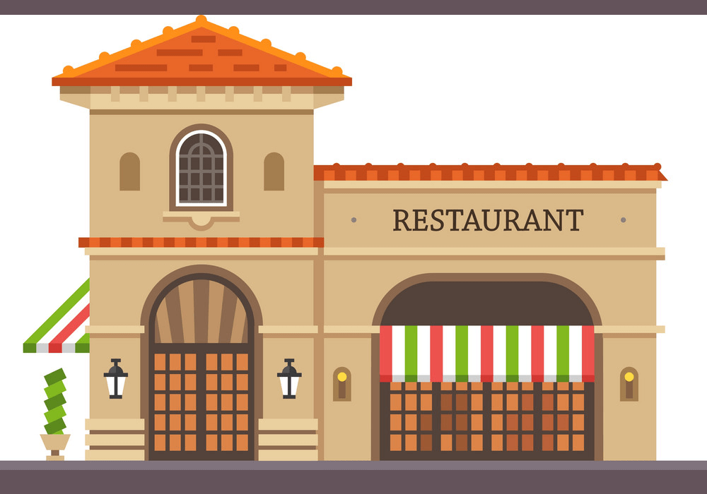 Restaurant Building clipart 1