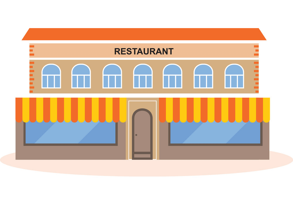 Restaurant Building clipart 2