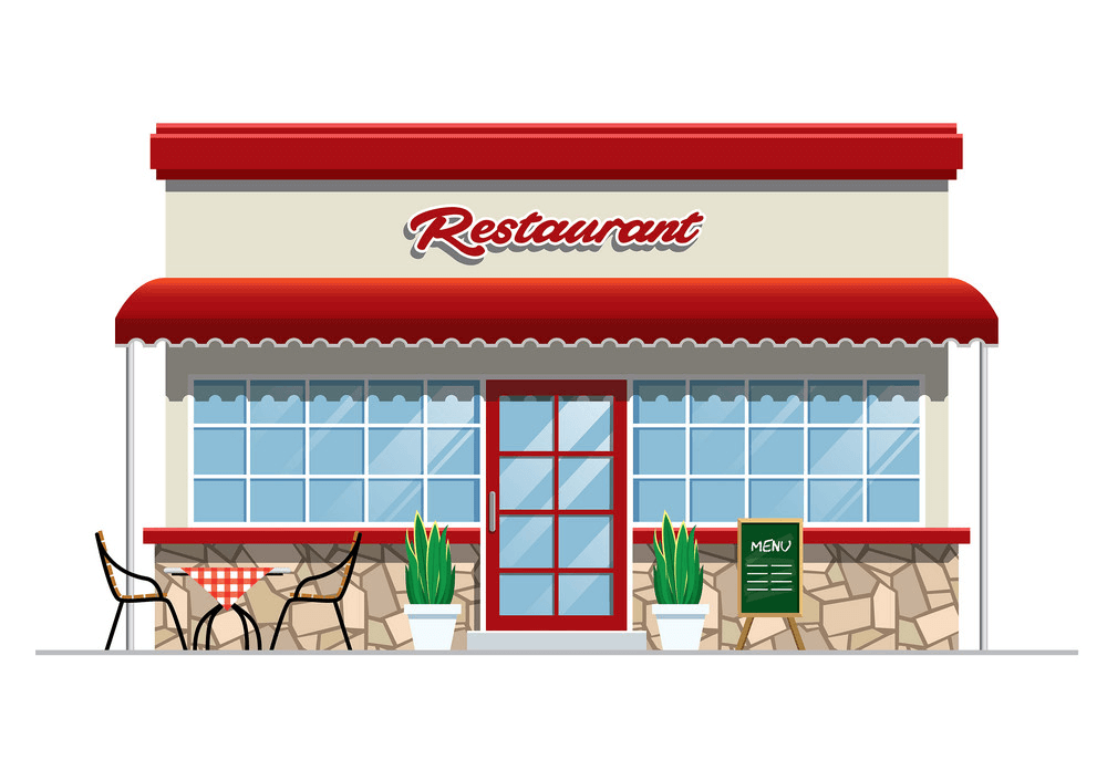 Restaurant Building clipart