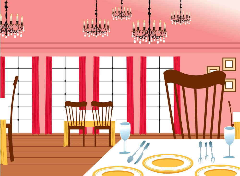 Restaurant Interior clipart