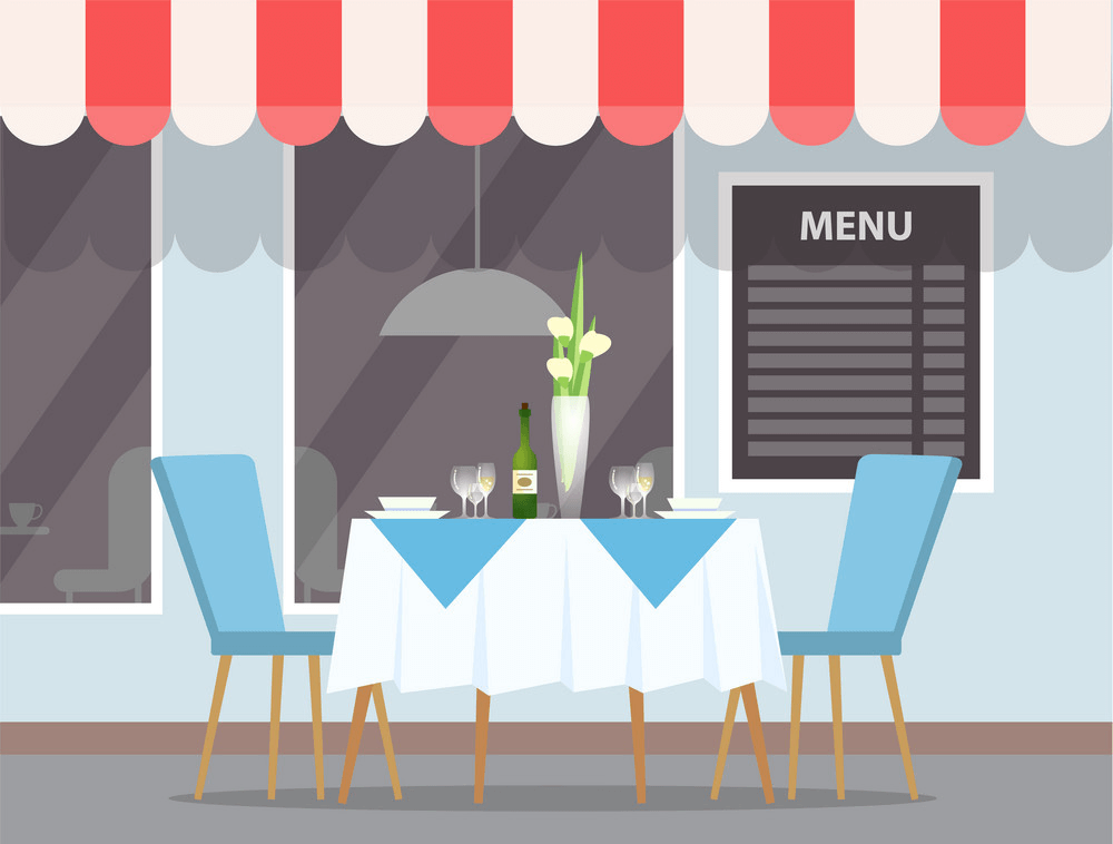 Restaurant Outdoors View clipart