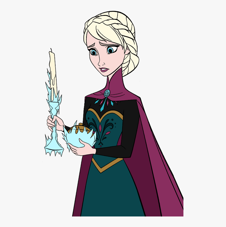 Sad Elsa clipart