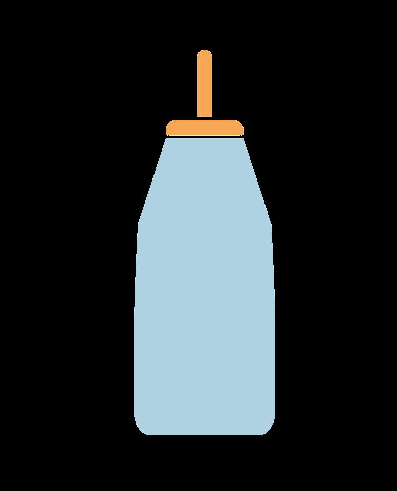 Simple Baby Bottle clipart transparent