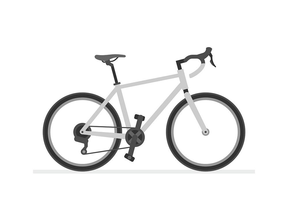 Simple Road Bike clipart