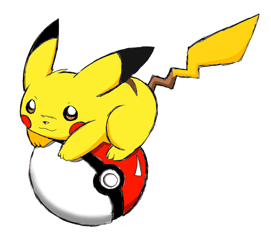 Sketch Pikachu clipart transparent