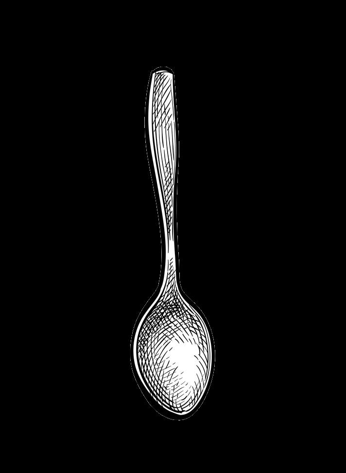 Sketch Spoon clipart transparent