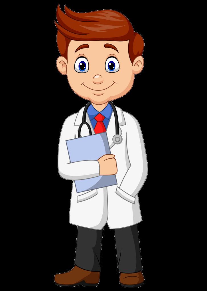 Smiling Doctor clipart transparent