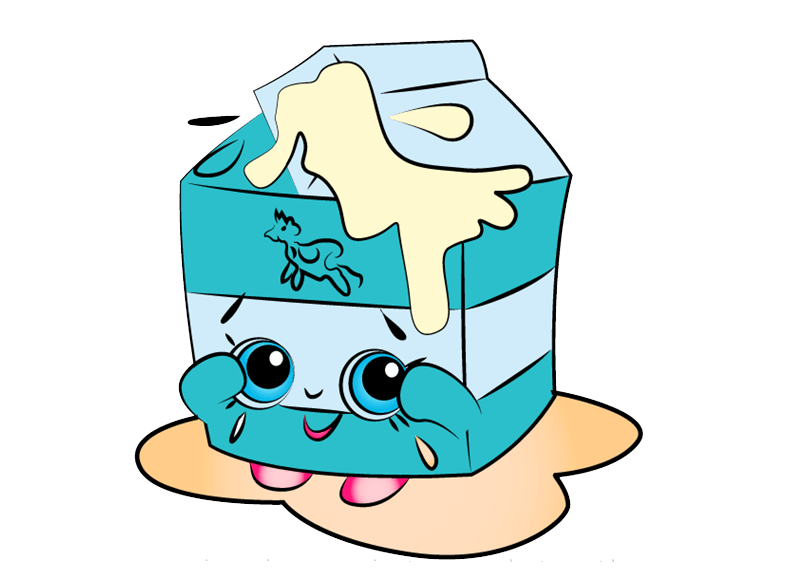 Spilt Milk Shopkins clipart transparent
