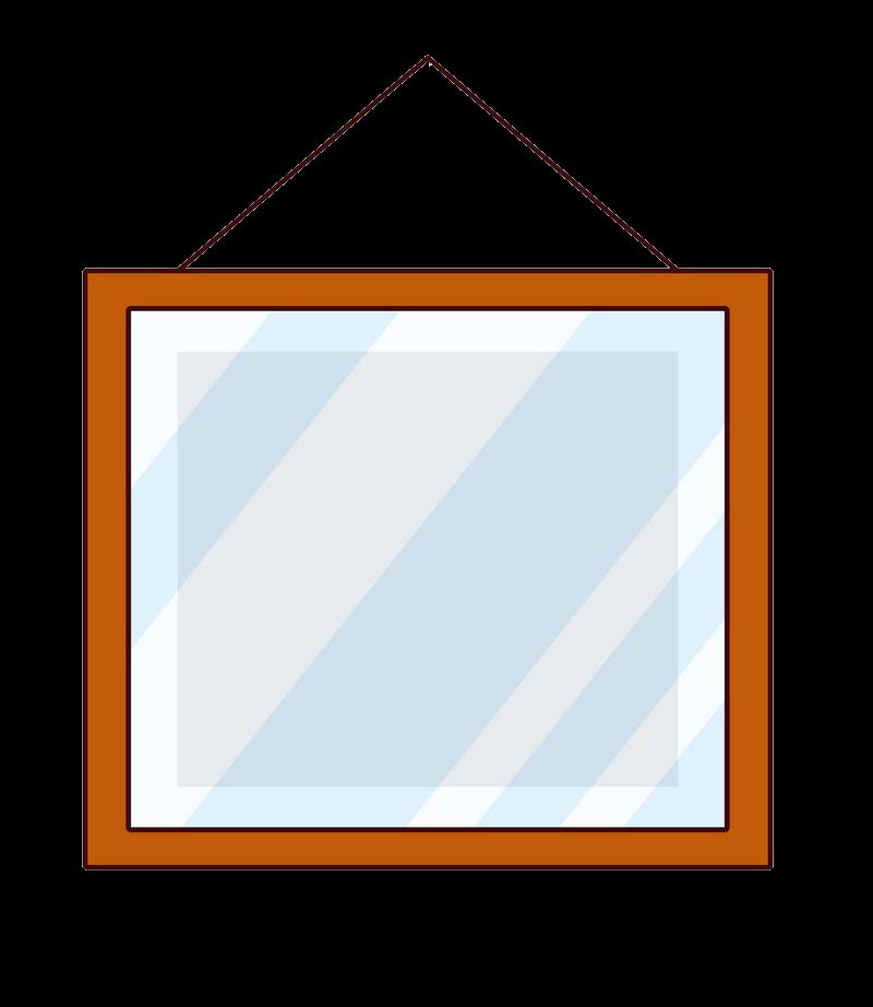 Square Mirror clipart transparent