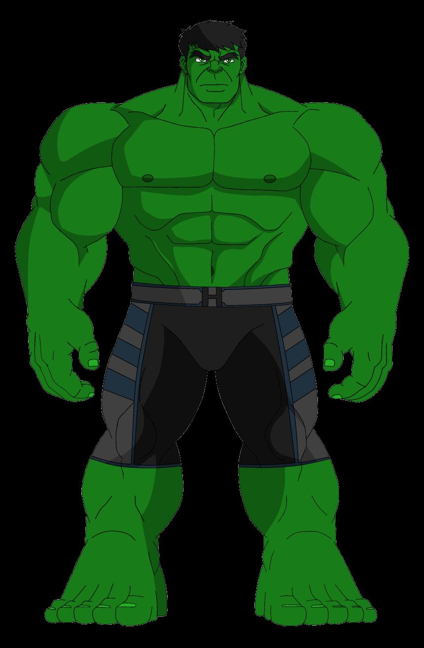 Standing Hulk clipart transparent