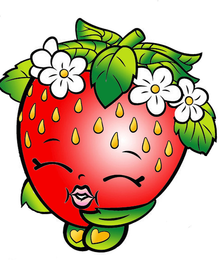 Strawberry Kiss Shopkins clipart