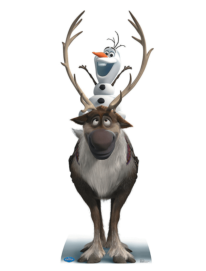 Sven and Olaf from Frozen clipart