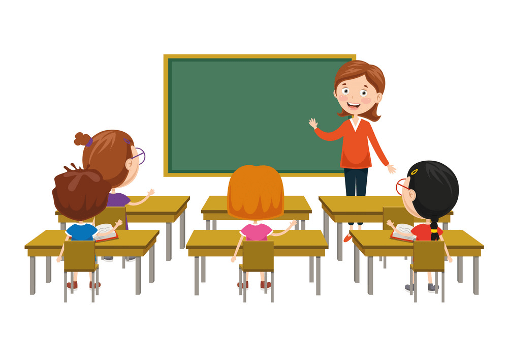 Teaching in Classroom clipart