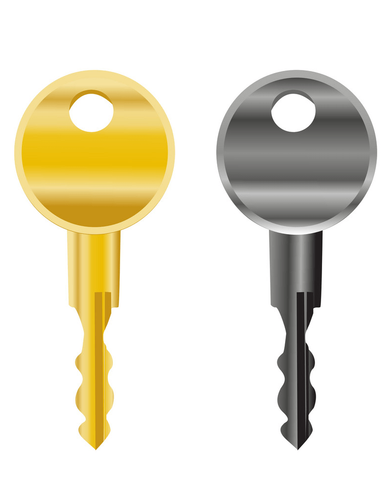 Two Keys clipart