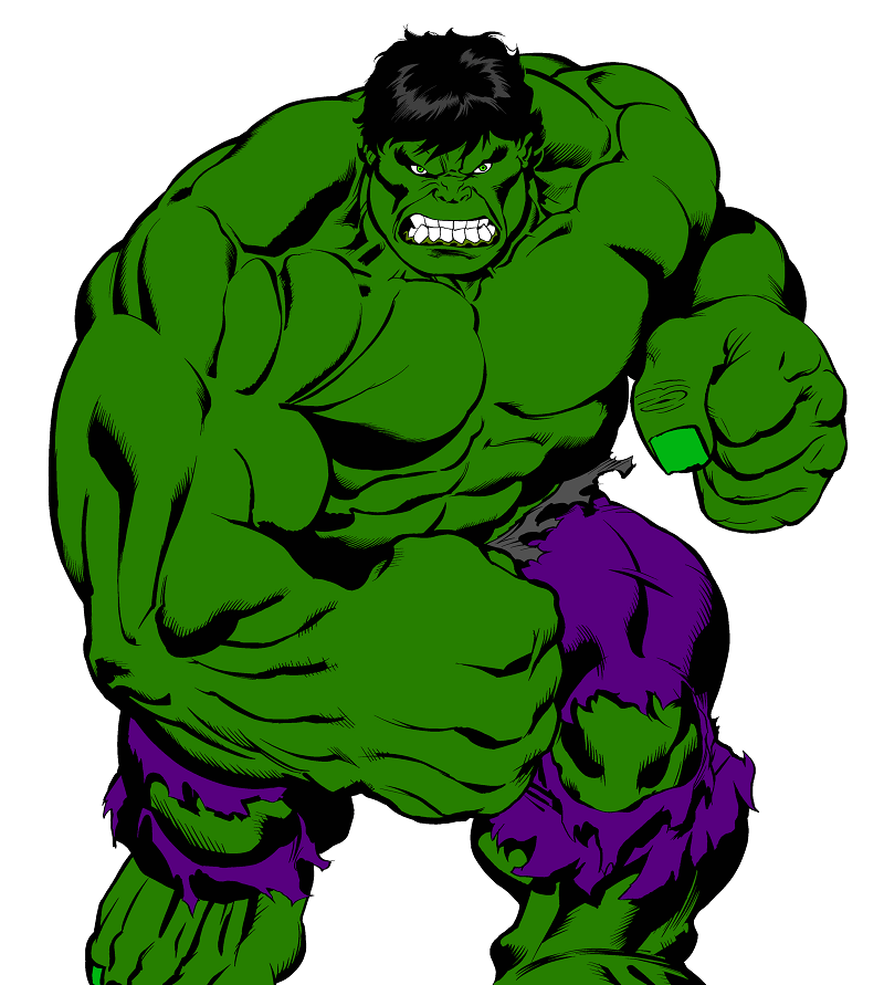 Very Angry Hulk clipart