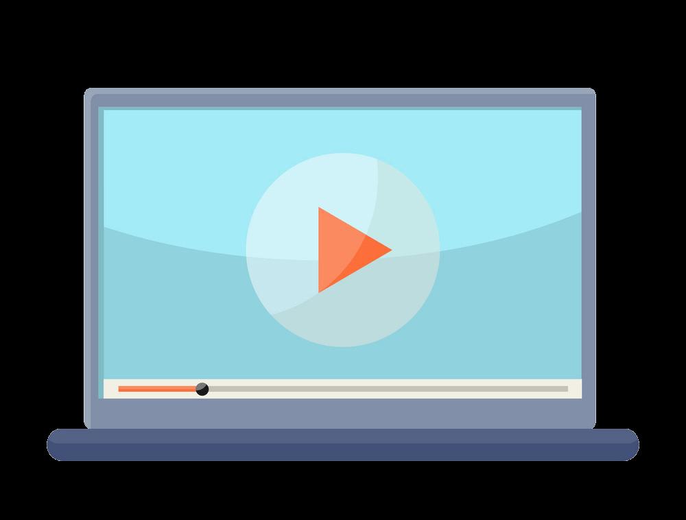 Video on Laptop clipart transparent