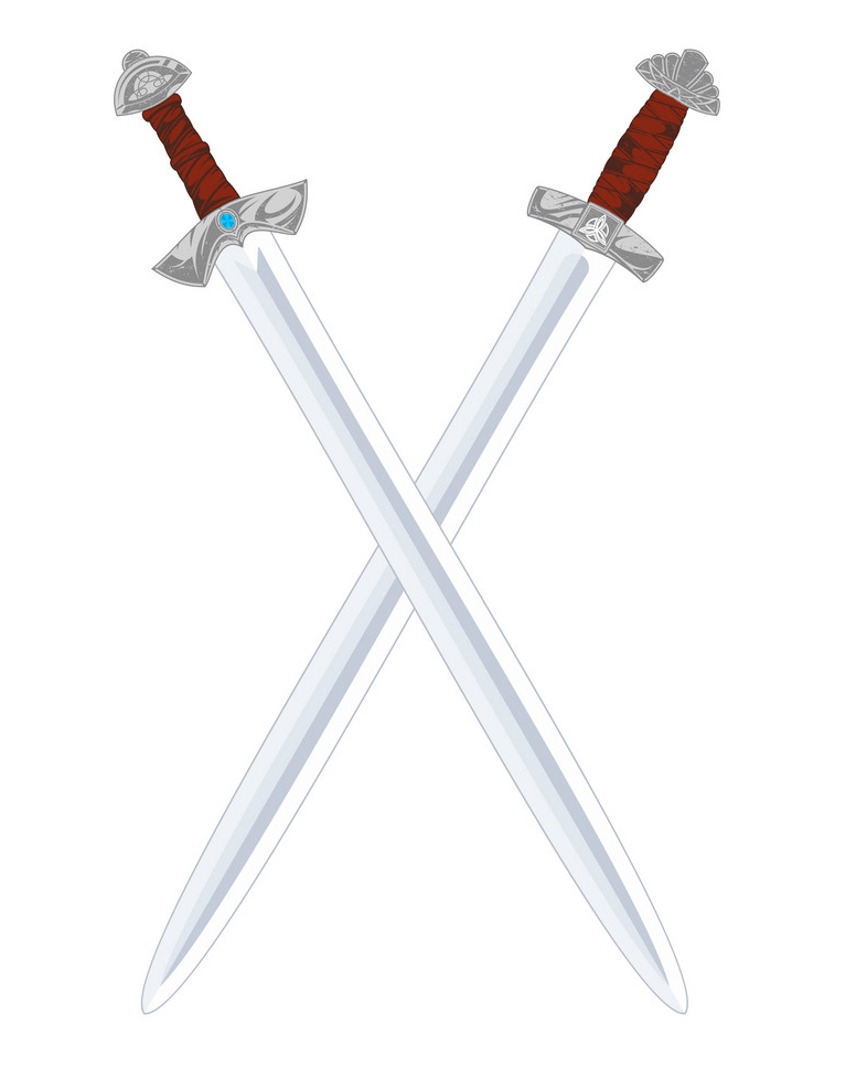 Viking Swords clipart