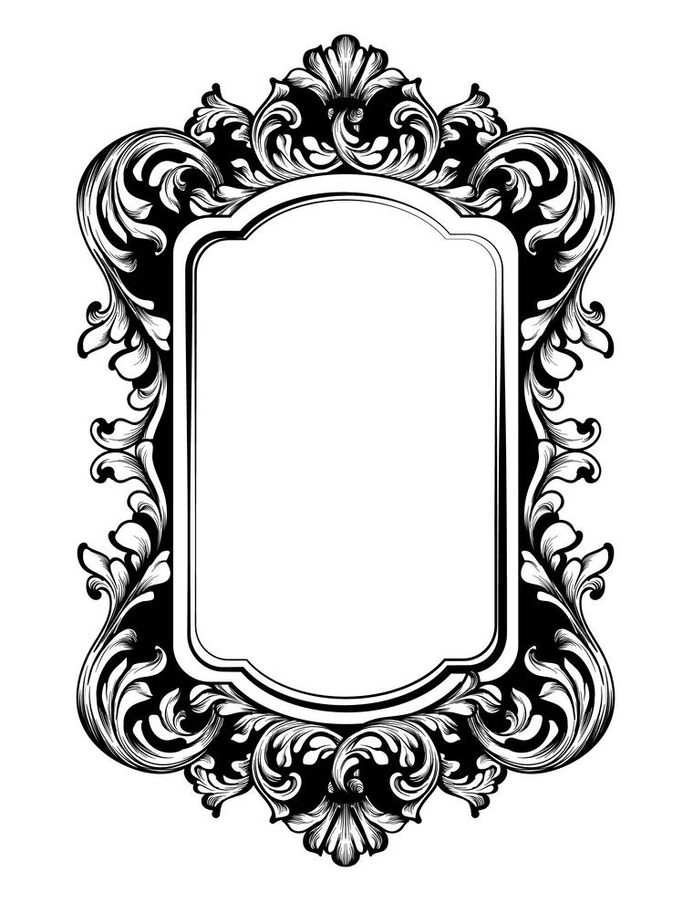 Vintage Luxury Mirror clipart