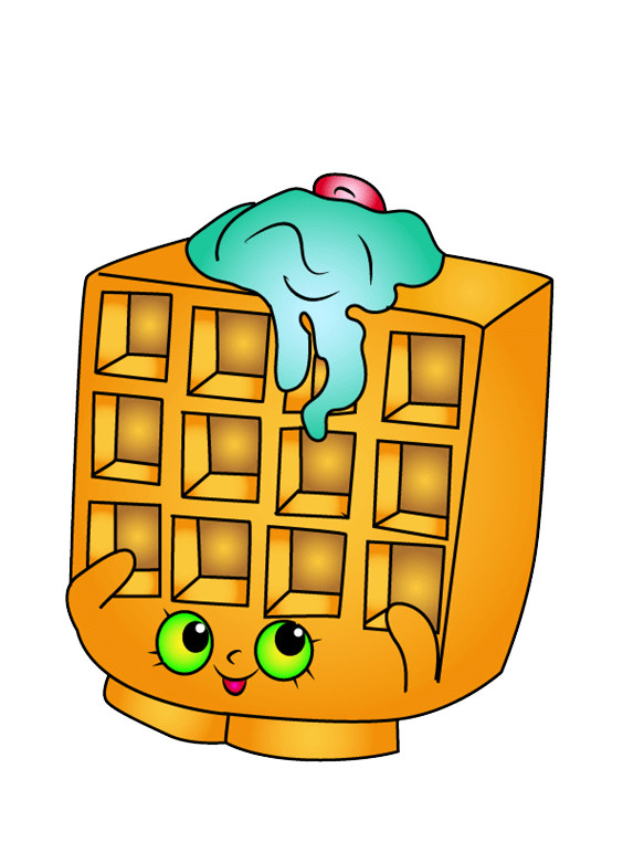 Waffle Sue Shopkins clipart transparent