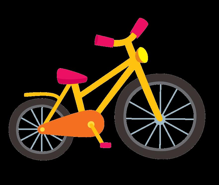 Yellow Bike clipart transparent