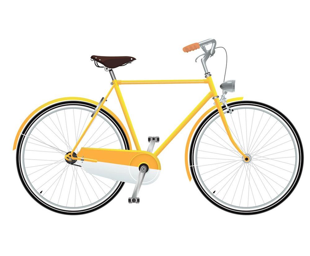 Yellow Bike clipart