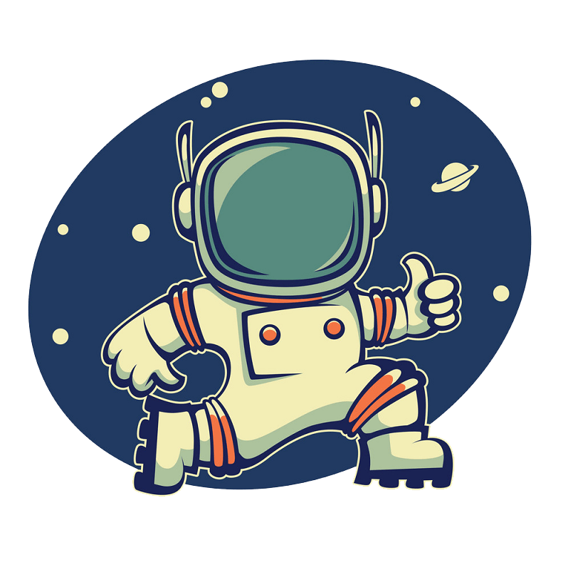 Astronaut clipart transparent 1