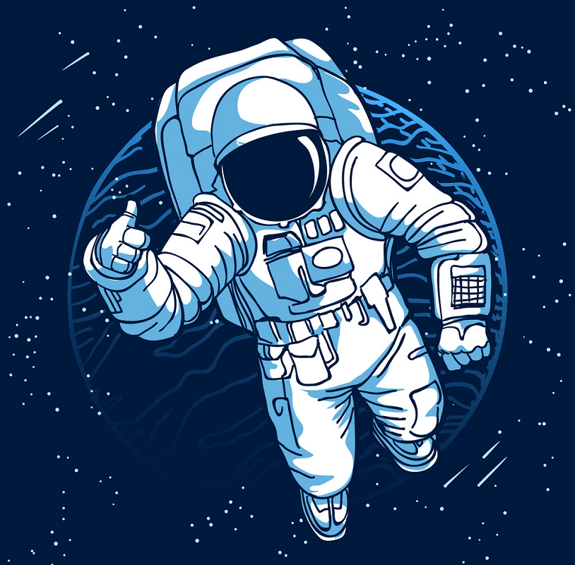 Astronaut in Space clipart 1