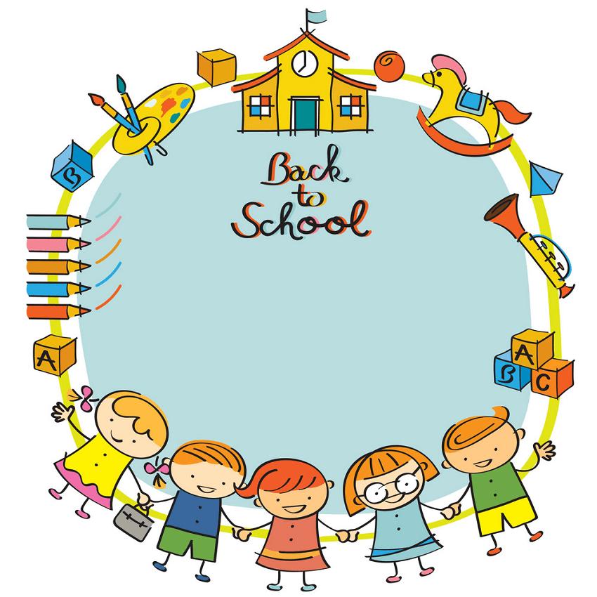 Back to School Kindergarten clipart