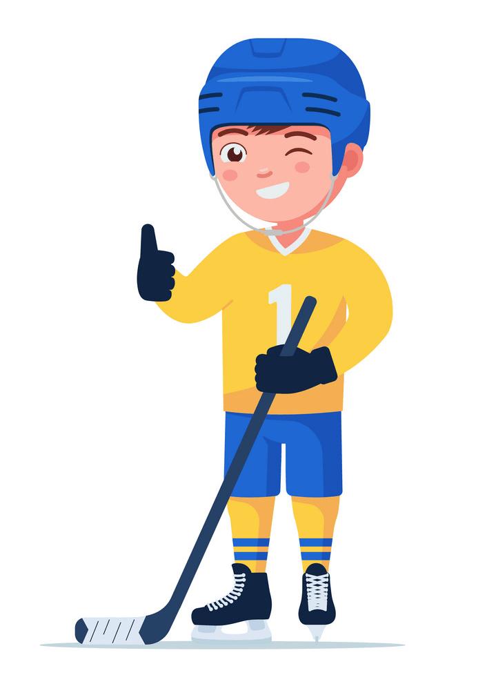 Boy Hockey Player clipart