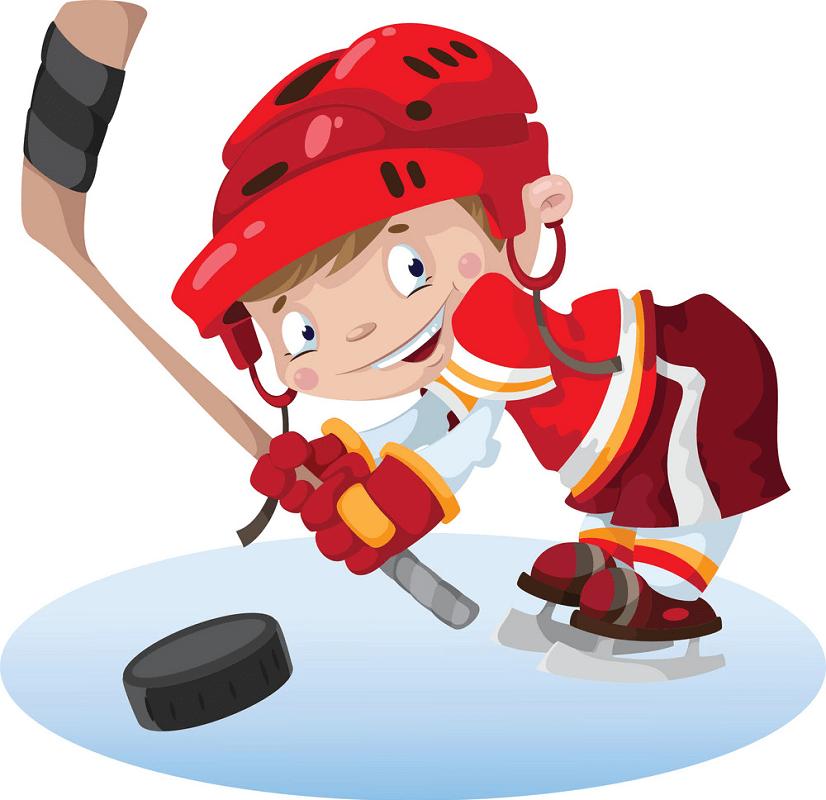 Boy Playing Hockey clipart