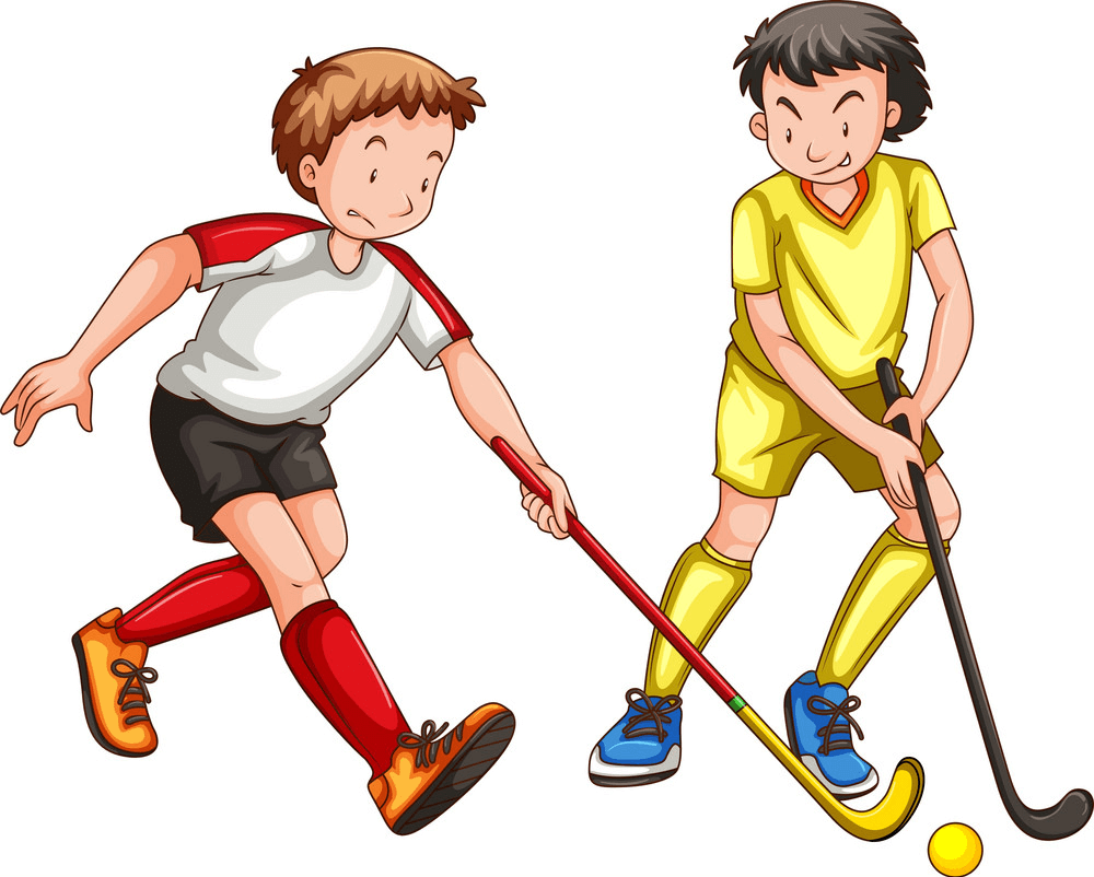 Boys Playing Hockey clipart