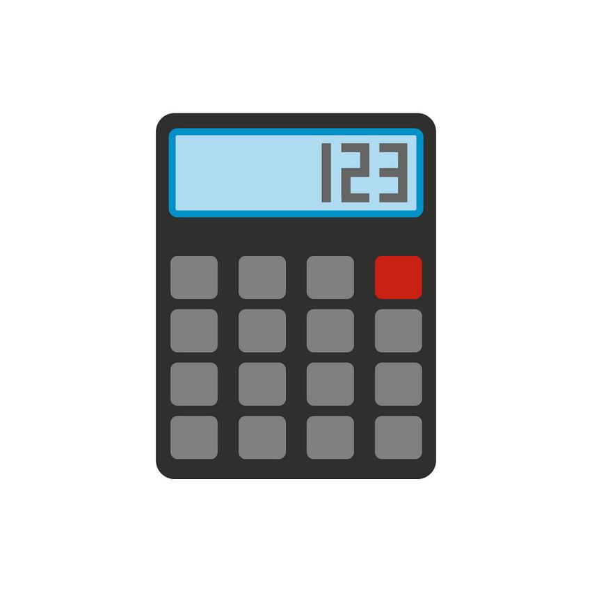 Calculator clipart 10