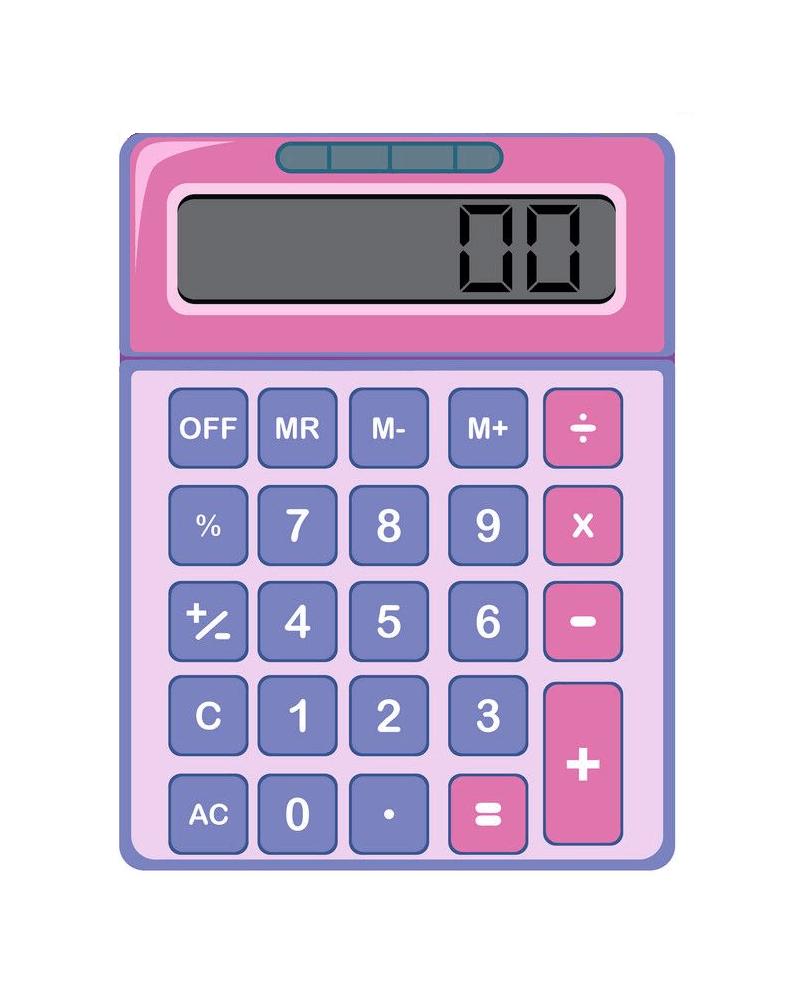Calculator clipart 12