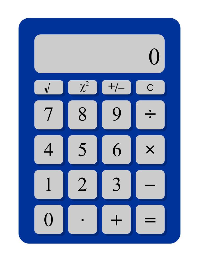 Calculator clipart 3