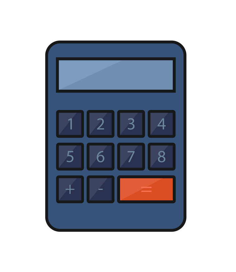 Calculator clipart transparent 1