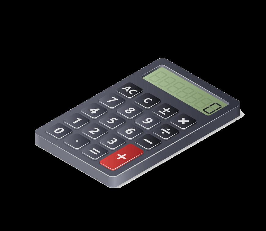Calculator clipart transparent 11