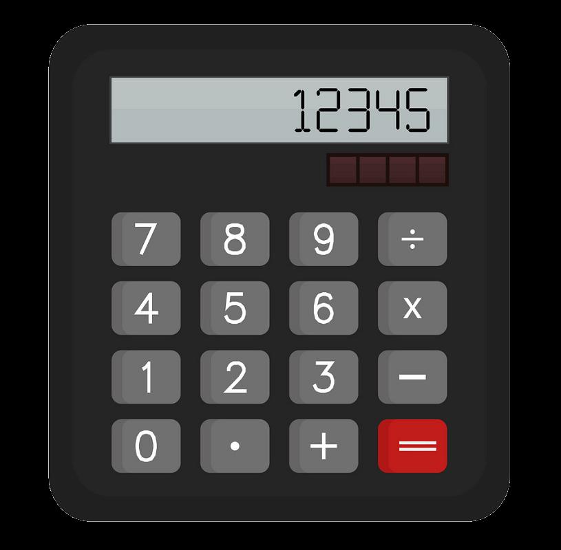 Calculator clipart transparent 3