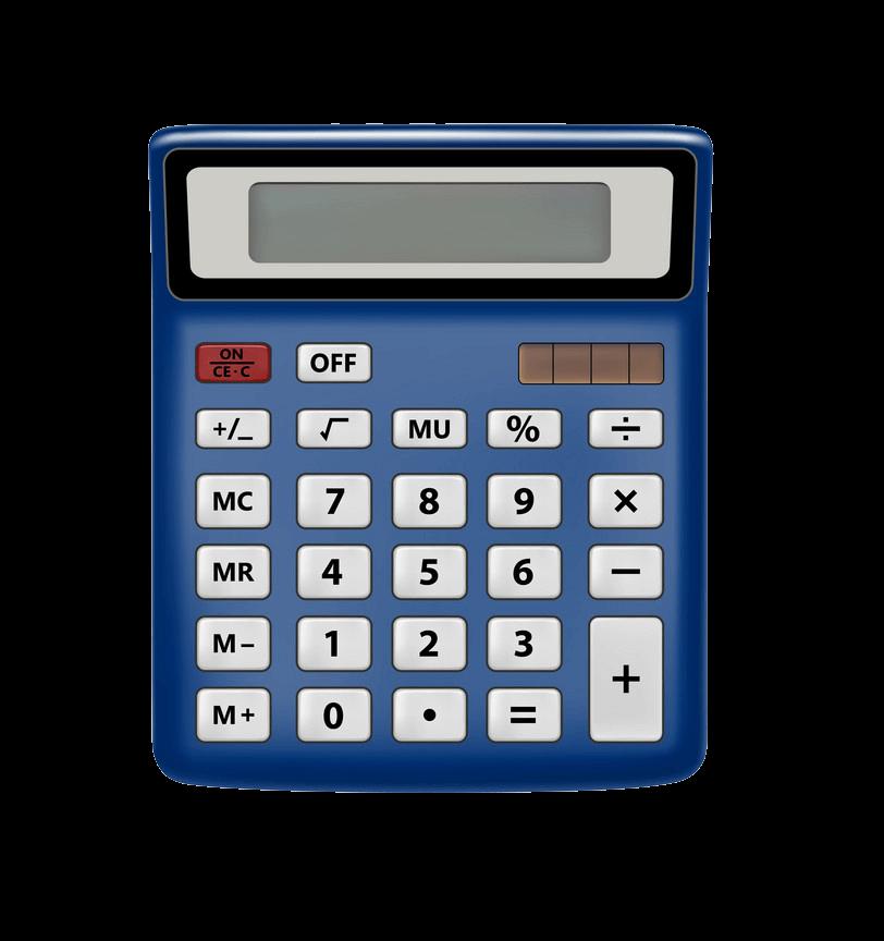 Calculator clipart transparent 7
