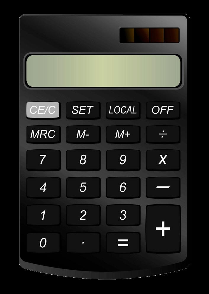 Calculator clipart transparent 9