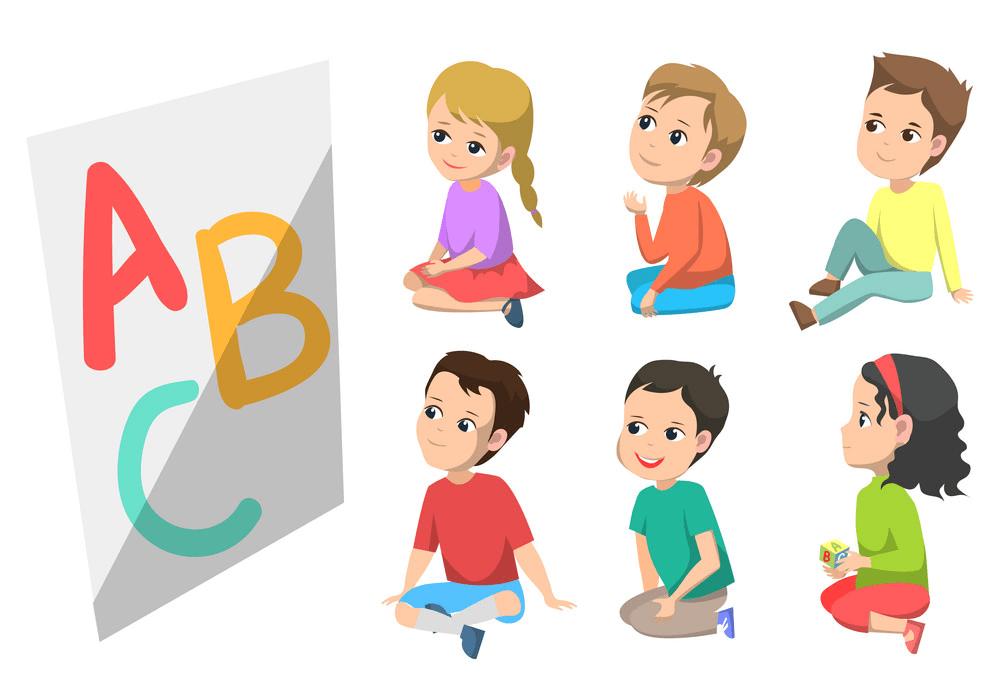 Children in Kindergarten clipart