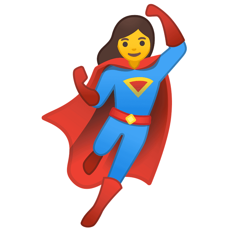 Cool Gril Superhero clipart transparent