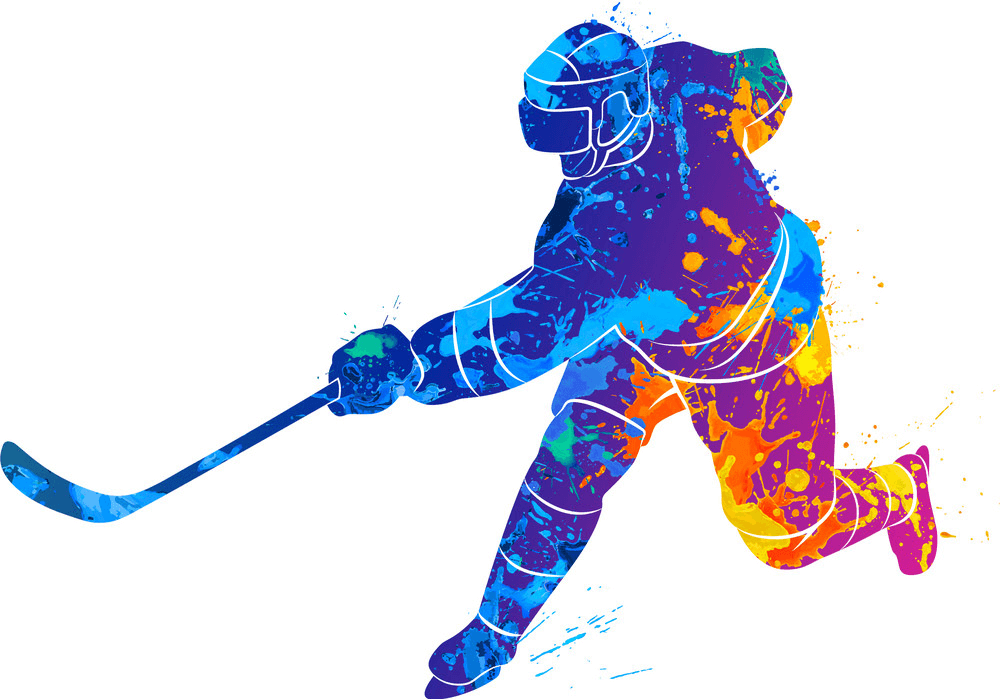 Cool Hockey Player clipart
