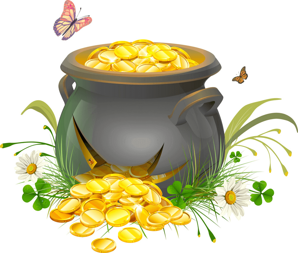 Cracked Pot of Gold clipart
