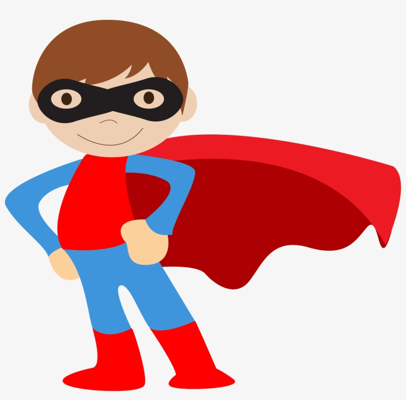 Cute Boy Superhero clipart