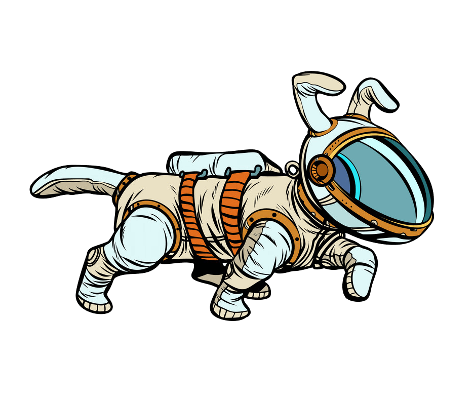 Dog Astronaut clipart transparent