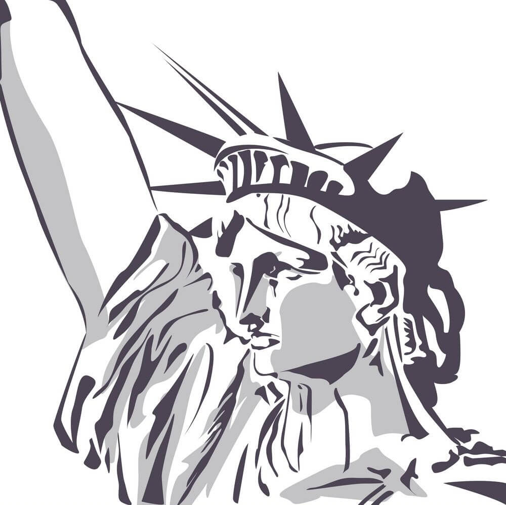 Face of Statue of Liberty clipart