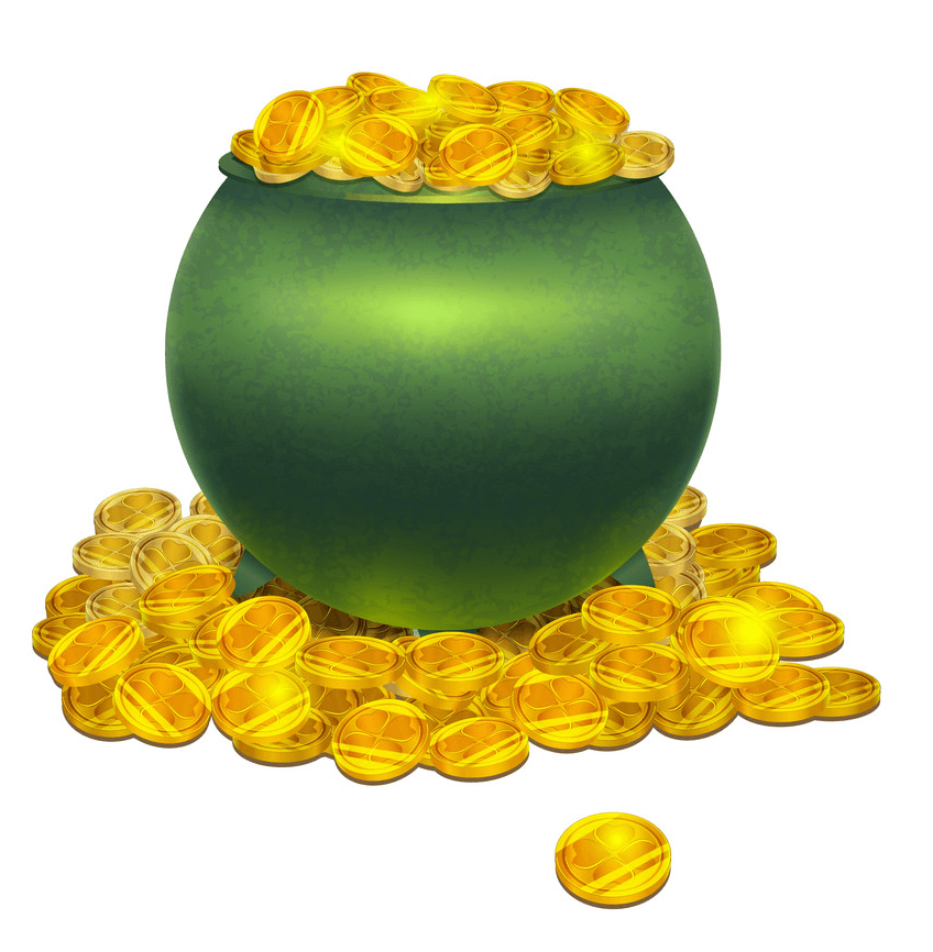 Full Pot of Gold clipart