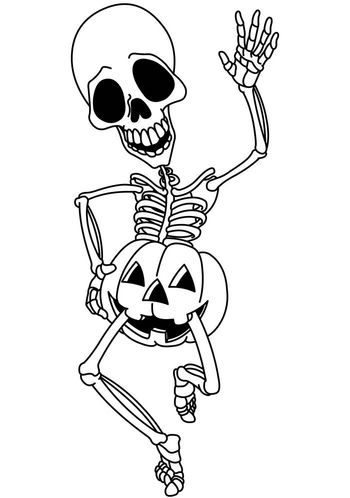 Funny Halloween Skeleton clipart