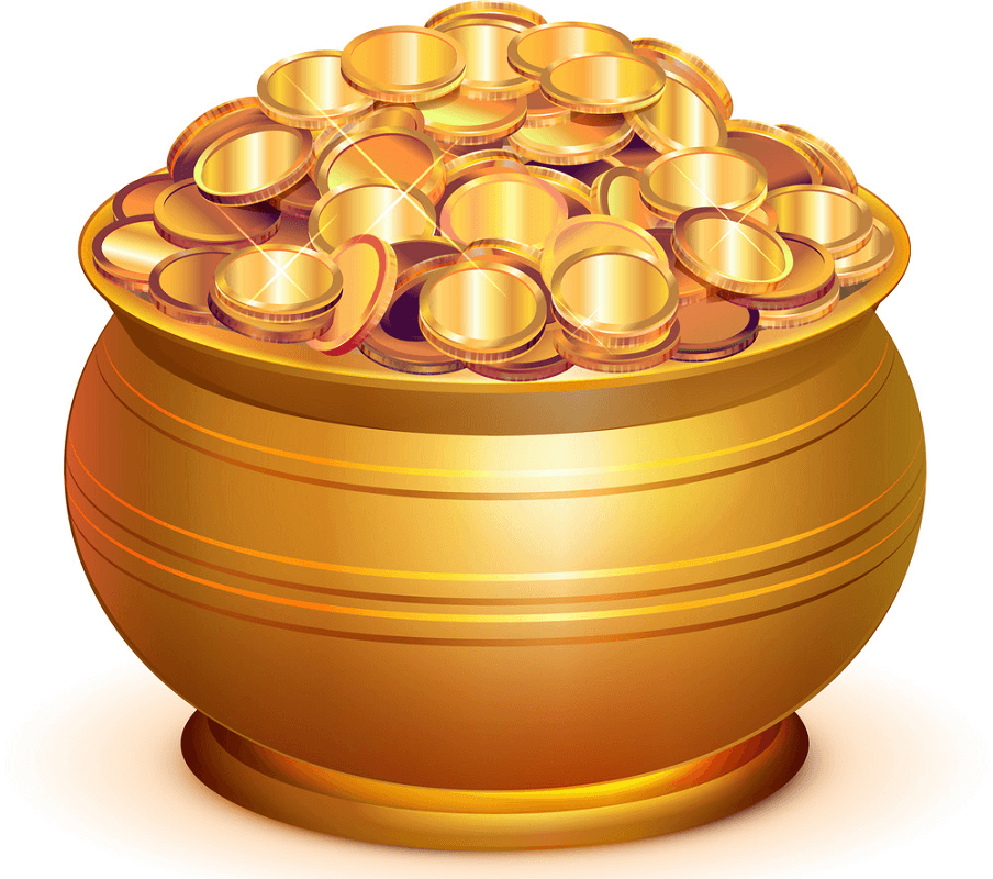 Gold Pot of Gold clipart