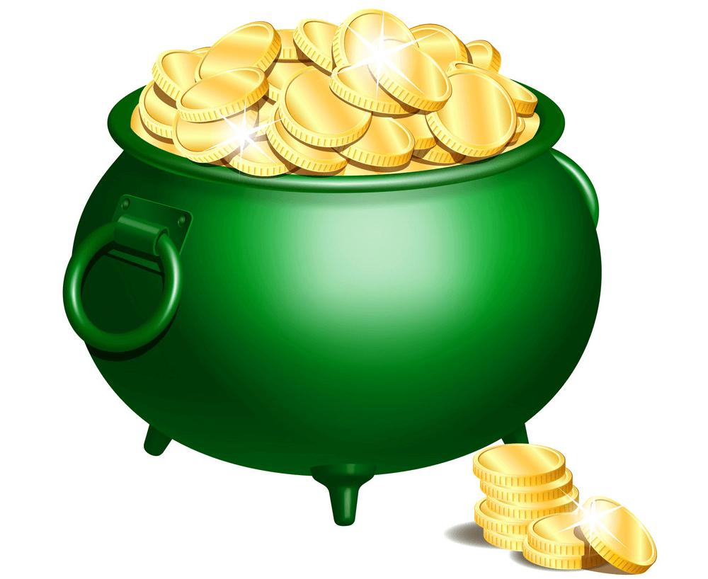 Green Pot of Gold clipart 1